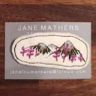 Jane Mathers Mourne Mountains Embroidered Brooch